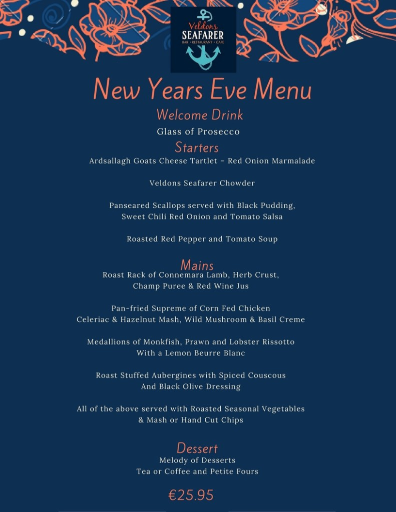 Events veldons seafarer bar restaurant letterfrack for What to make for new years eve dinner